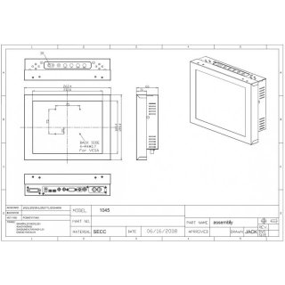 10.4 Chassis Monitor / Touch Screen