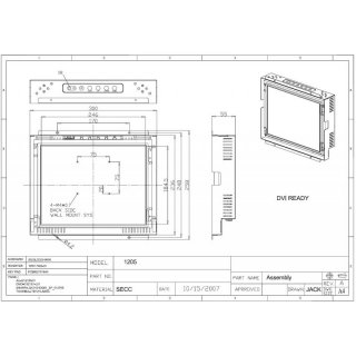 12.1 Open Frame Monitor/ Touch Screen