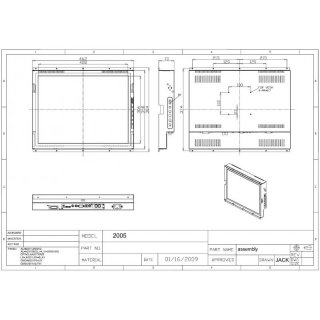 20 Open Frame Monitor / Touch Screen