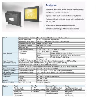 12 Panel Mount Monitor / Touch Screen
